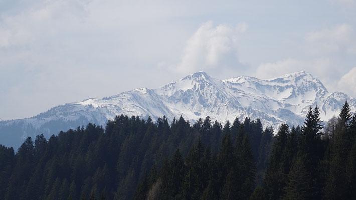 Blick vom Durchspring zu den Karnischen Alpen