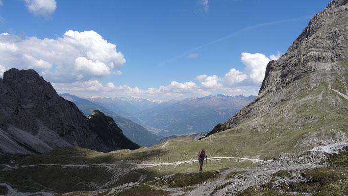 Bilder vom Aufstieg zur Karlsbader Hütte
