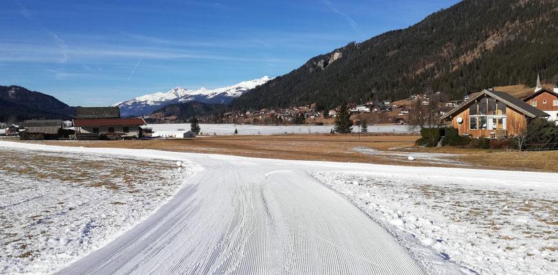 Langlaufen am Weissensee