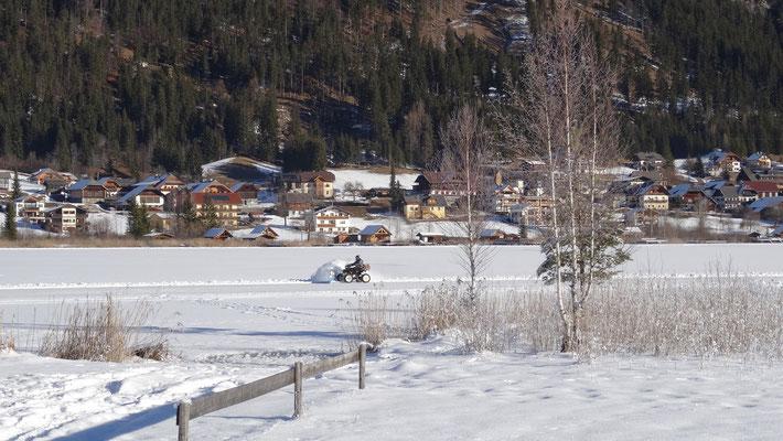 der Westteil ist zum Eislaufen freigegeben