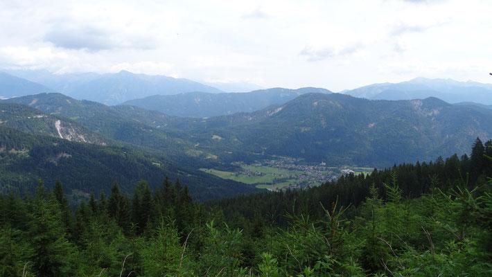 Blick nach Weissbriach