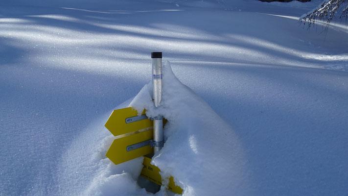 Meterweise liegt hier Schnee