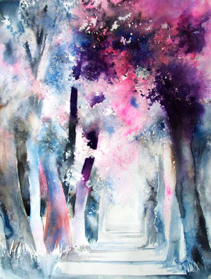 Geisterallee Aquarell 1.200,- EUR