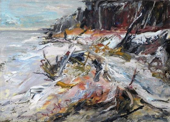 Winterlicher Weststrand (2012) Öl auf Leinwand 50x70 cm 2.000,- EUR