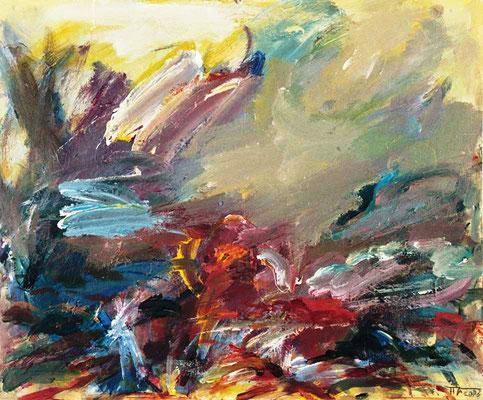 Stürmische Landschaft (2003) Acryl 50x60 cm 660,- EUR