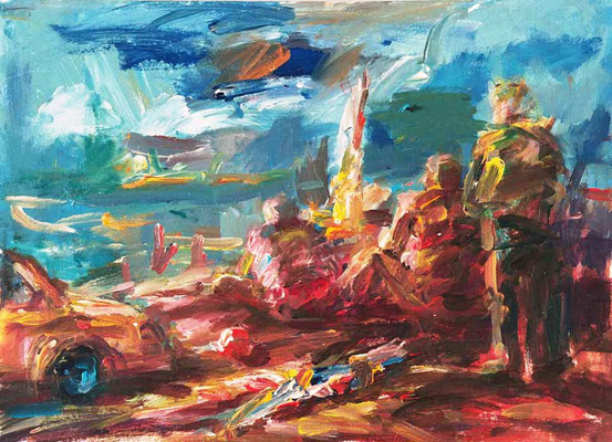 Badende (2003) Acryl 50x70 cm 1.000,- EUR