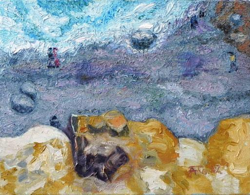 Steilküste bei Althagen IV (2012) Öl auf Leinwand 35x45 cm 1.500,- EUR
