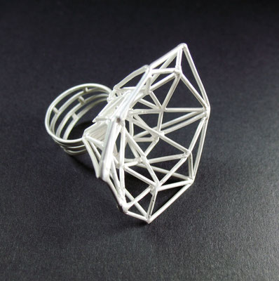 Stabwerk (2011) Ring, Silber gegossen 460,- EUR