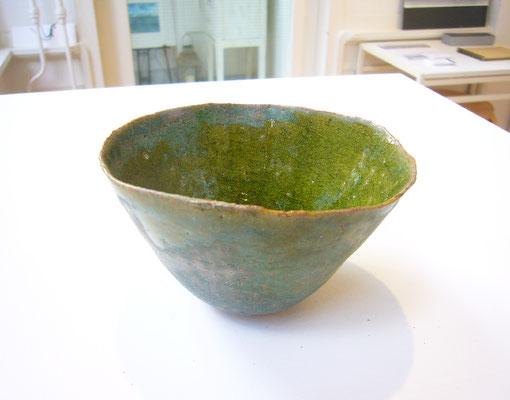 Bol vert #1, grès(French ceramics), glaze / (+/-)dia. 11x h:7 cm / Price on request