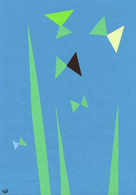 Summery 182 mm x 257 mm (B5サイズ) origami paper-cut 2015 Ⓒ Hanae Tanazawa