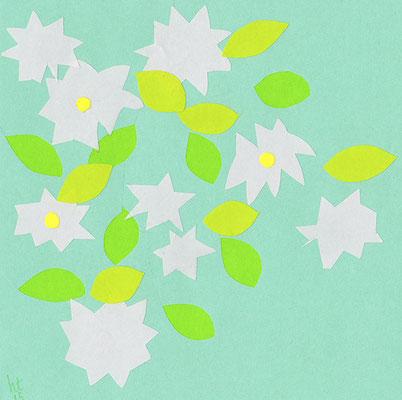 Early Summer 167 mm x 167 mm origami paper-cut 2015 Ⓒ Hanae Tanazawa