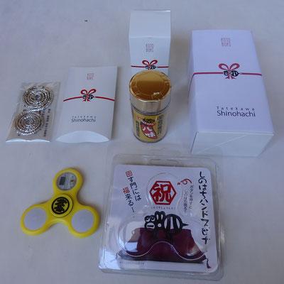 立川志の八様 真打昇進引出物デザイン Gift designs for Mr. Shinohachi Tatekawa, 2017