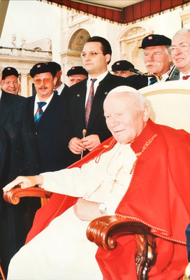 September 1999 bei Johannes Paul II. im Vatikan