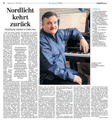 """""""Nordlicht kehrt zurück"""" Cellesche Zeitung 2011"""