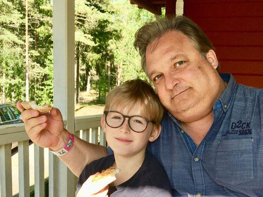 FAH mit Sohn Erik 2019 in Naantali