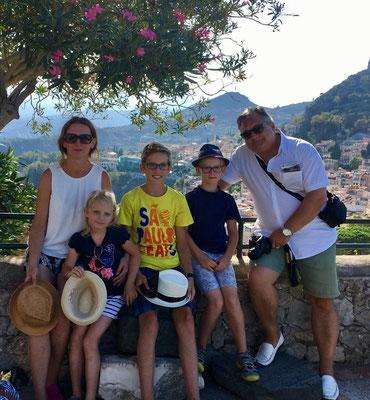 Familie Holzkamp in Taormina 2018
