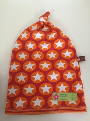 Sterne orange/weiss, Kopfumfang 46 cm