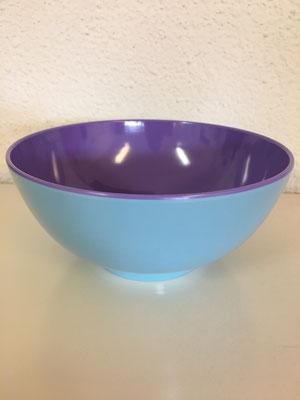 Uni hellblau/violett; H: 7.5 cm, Durchmesser: 17.5 cm, Fr. 10.--