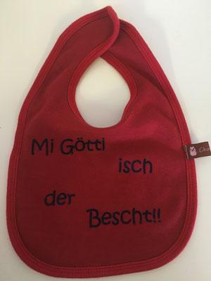 """Rot """"Mi Götti isch dr'Bescht"""""""