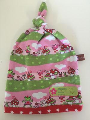 Pilzli rosa/grün, Kopfumfang 38 cm