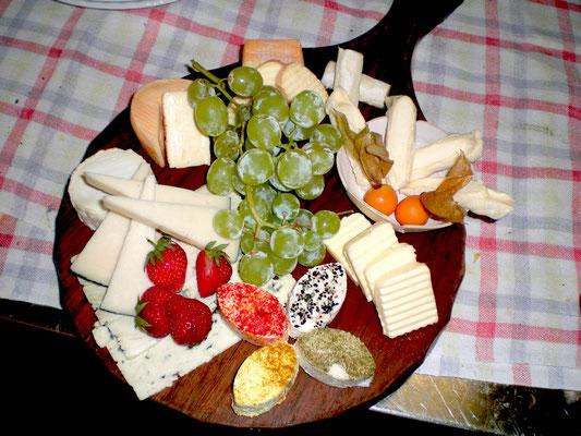 Käseplatte im Trachtenheim Irschenberg