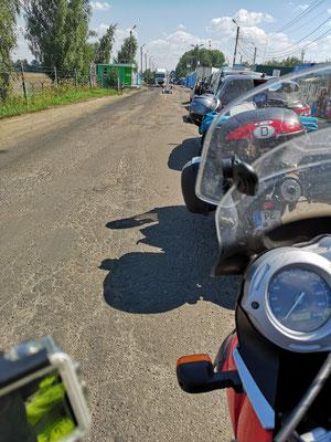 an der ukrainisch/russischen Grenze