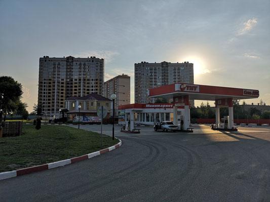 Hotel in Tambov an einer Tankstelle