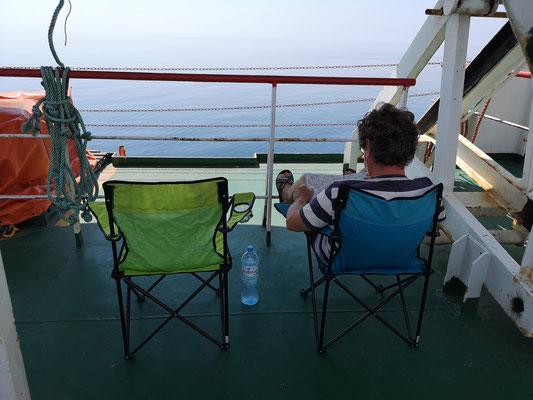 Gut, dass wir diese Stühle dabei hatten
