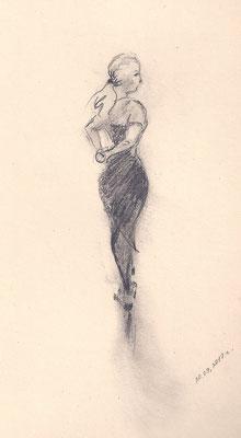 Танец. 2017. Бумага, карандаш.