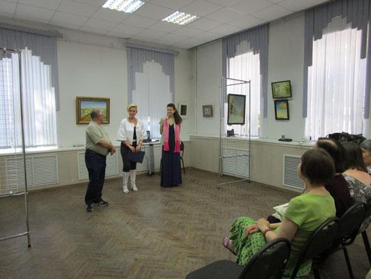 Заслуженный художник РФ Решетнёв М.С., директор Лысак С.А., Бурденкова А.А