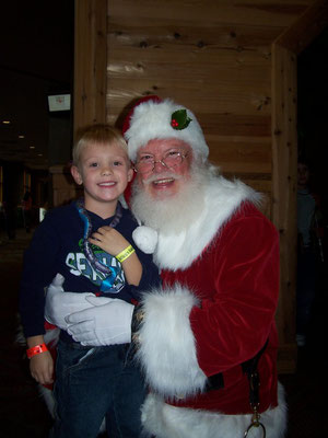 Santa with his Grandson