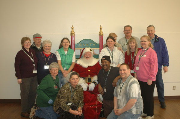 Santa at the food bank