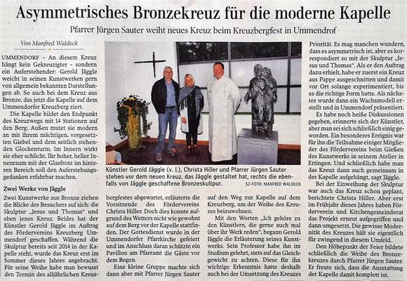 Artikel in der Schwäbischen Zeitung Biberach vom 20.09.2016