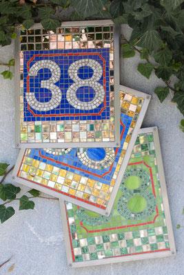 Spiegelmosaik Hausnummern