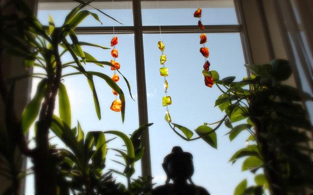 Brockenkette, Farbglaskette, Glasbrocken, Ideen aus Glas