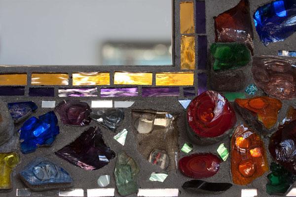 Spiegelmosaik Spiegel Glasbrocken