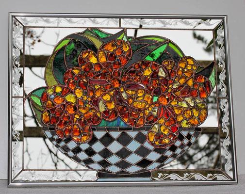 Glaskunst Spiegel Glasbrocken Franz Heili