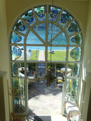 Kunstverglasung Fenster Ferienhaus Faakersee Franz Heili