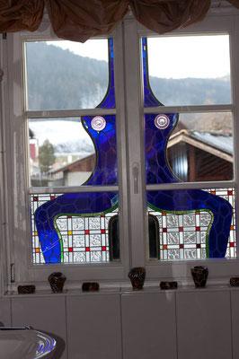 Kunstverglasung Badezimmer Fenster Franz Heili