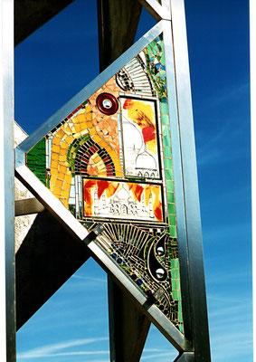 Kunstverglasung Glasmosaik Turm Franz Heili