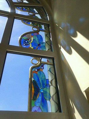 Kunstverglasung Türe Villa Faakersee Franz Heili