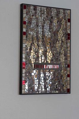 Spiegelmosaik Baumrinde Franz Heili
