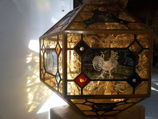 Lampenschirm Tiffany Glasgravur Franz Heili