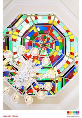 Glaskuppel Tiffany Glaskunst Kramar Franz Heili glaskunststudio