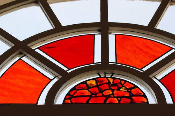 Kunstverglasung Fenster AHA Seniorenresidenz Draupark Villach Mosser Franz Heili