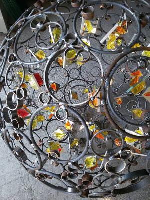 Glas Metall Kugel Glaskunst Franz Heili