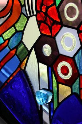 Kunstverglasung Stiegenaufgang