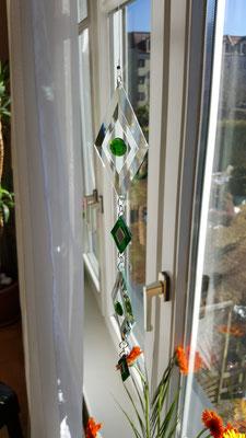 Glaskette, Facettenketten, Miniaturspiegel, Ideen aus Glas