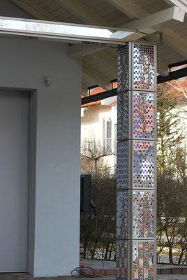 Spiegelmosaik, Säule, Spiegelsäule, Franz Heili