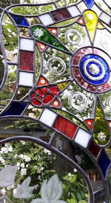 Kunstverglasung Trennwand Linsenschliff Franz Heili